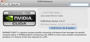 The CUDA Preference Panel