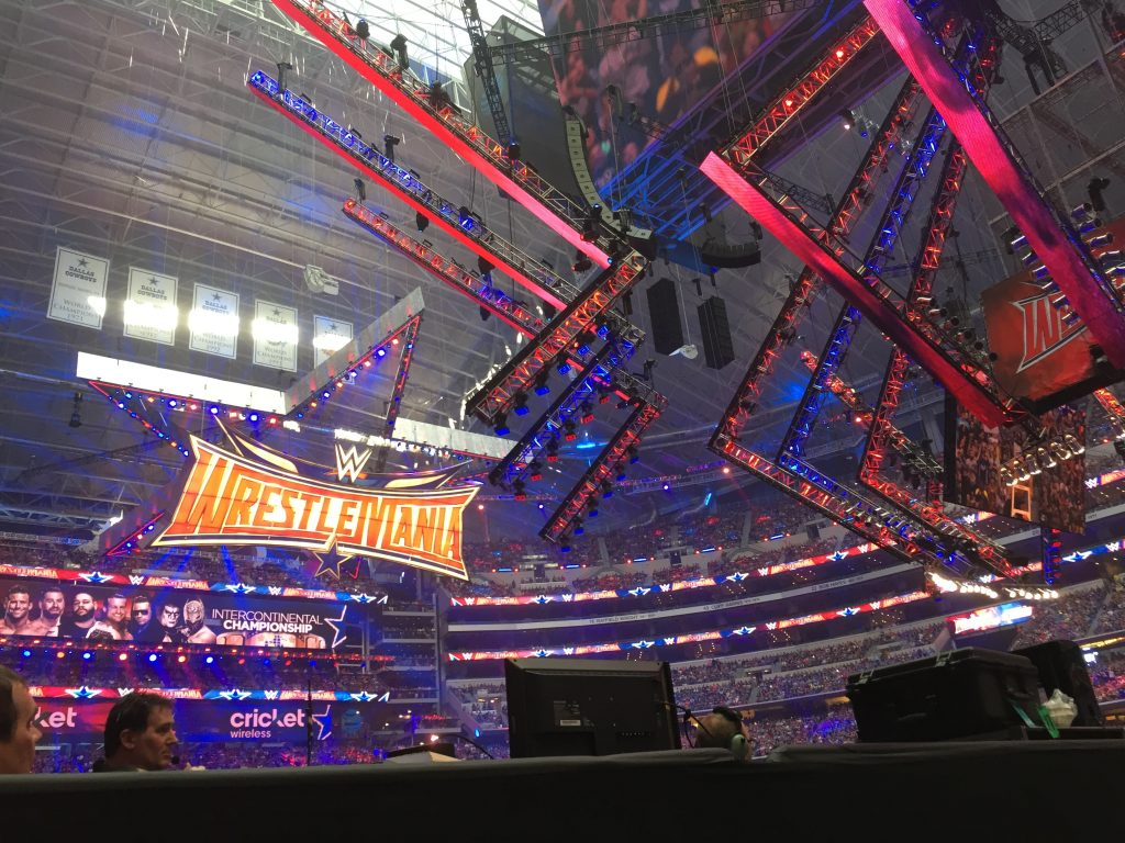 Rich Roddman at stage level for Wrestlemania in April 2016